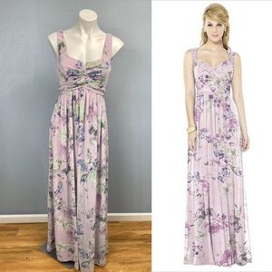 After Six Lavender garden sleeveless maxi gown NWT